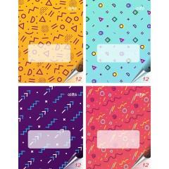 Vihik 12 lehte, joon, 4 taustavärvi