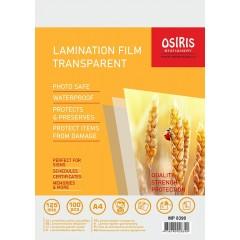 Lamineerimiskile Osiris A4, 125mkr, 100 lehte pakis, läikiv
