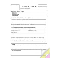 Kaetud tööde akt A4, isekopeeruv, 3x25 lehte