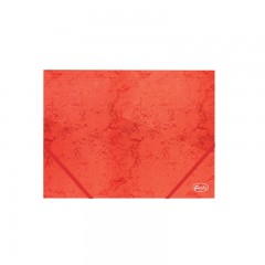 Nurgakummiga kartongmapp A4 Forofis 350g/m2, punane