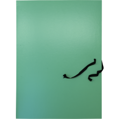 Mapp kartongist A3 3-klapiga paeltega, roheline