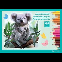 Joonistusplokk A4 120 g, 40 lehte – Koala