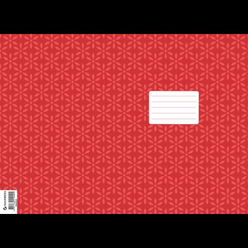Vihiku kattepaber (430*310 mm), 50 lehte pakis, punane