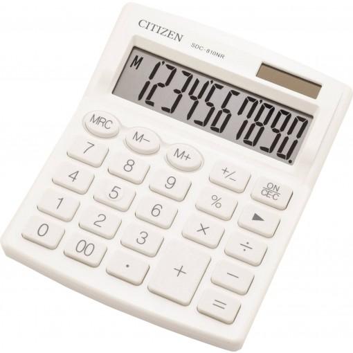 Kalkulaator (laua) Citizen SDC810NR WHE, 10 kohta, valge