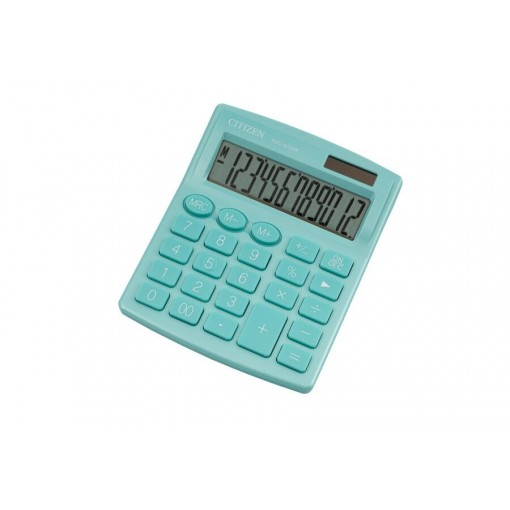Kalkulaator (laua) Citizen SDC812NR GNE, 12 kohta, türkiis