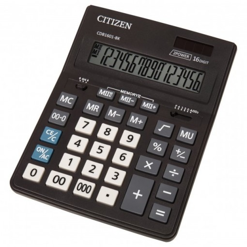 Kalkulaator (laua) Citizen CDB1601 BK, 16 kohta