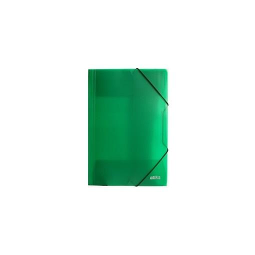 Nurgakummiga plastmapp A4 Osiris, roheline