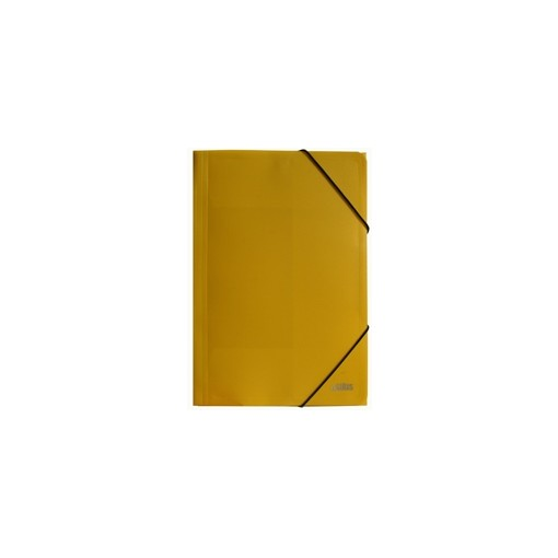 Nurgakummiga plastmapp A4 Osiris, kollane