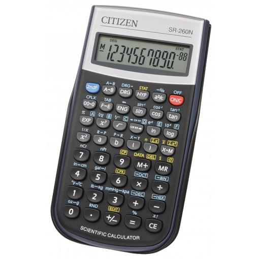 Kalkulaator funktsioon Citizen SR260N, 12 kohta