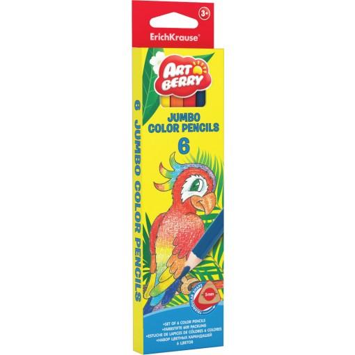 Värvipliiatsid Artberry JUMBO, 6 värvi