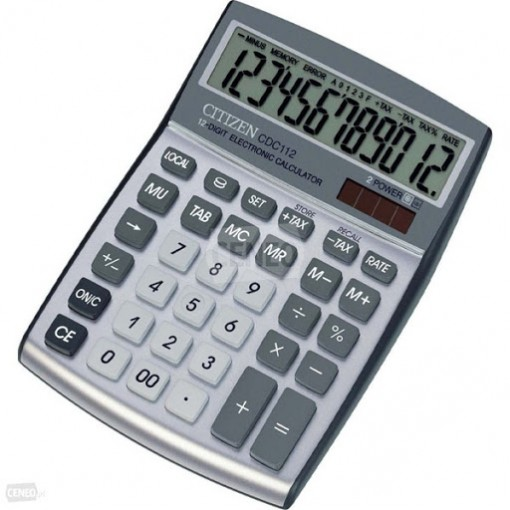 Kalkulaator (laua) Citizen CDC112 WB, 12 kohta