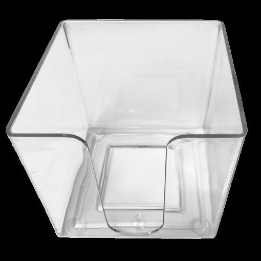 Märkmepaberi tops paberile 9x9x9cm, läbipaistev