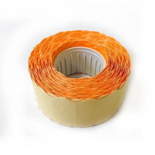 Hinnapüstoli etikett 26x16mm, oranž, 1000tk rullis