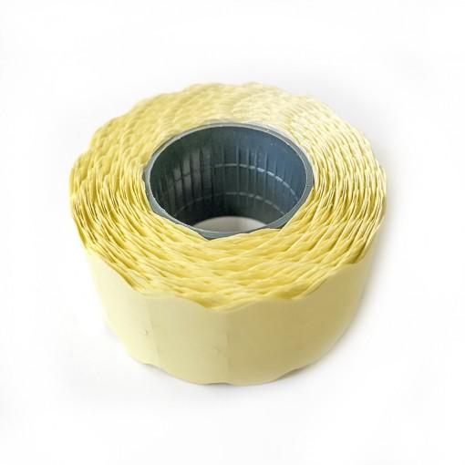 Hinnapüstoli etikett 26x12mm, kollane, 1000tk rullis