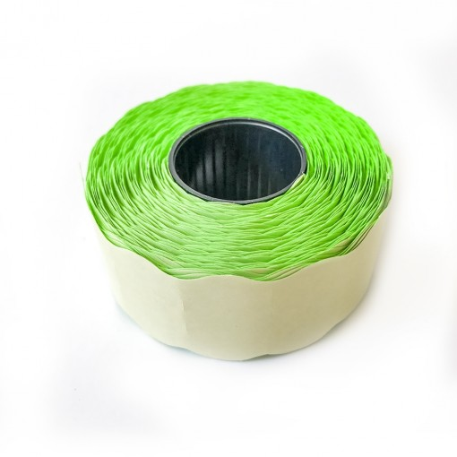 Hinnapüstoli etikett 26x16mm, roheline, 1000tk rullis