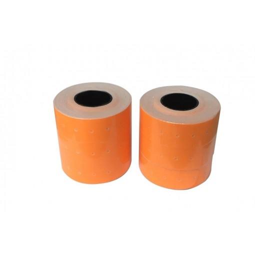 Hinnapüstoli etikett 21x12mm, oranž, 1000tk rullis