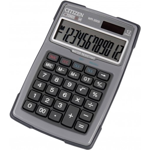 Kalkulaator (laua) Citizen WR3000NR GYE, 12 kohta, hall