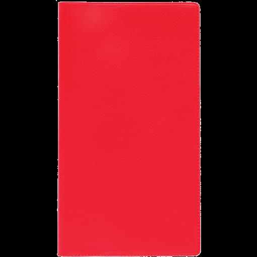 Taskumärkmik EURO, plastkaaned (PUNANE)