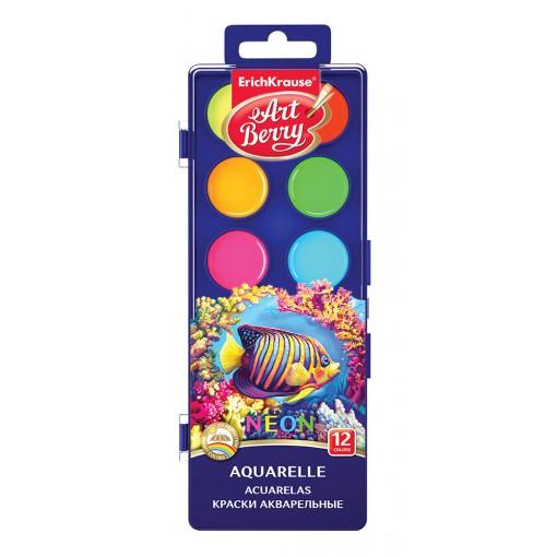 Akvarellvärvid ArtBerry Neon UV kindel, 12 värvi