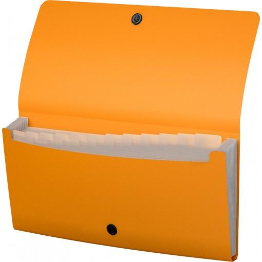 Lõõtsmapp A65 Matt Neon, 12 taskut, 4värvi assortii (50429)