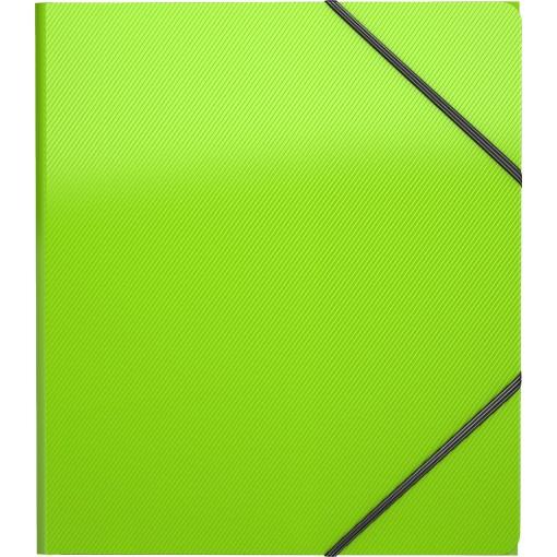 Nurgakummiga plastmapp A5+ Diagonal Neon, 4värvi assortii, 19,5x22cm (50384)