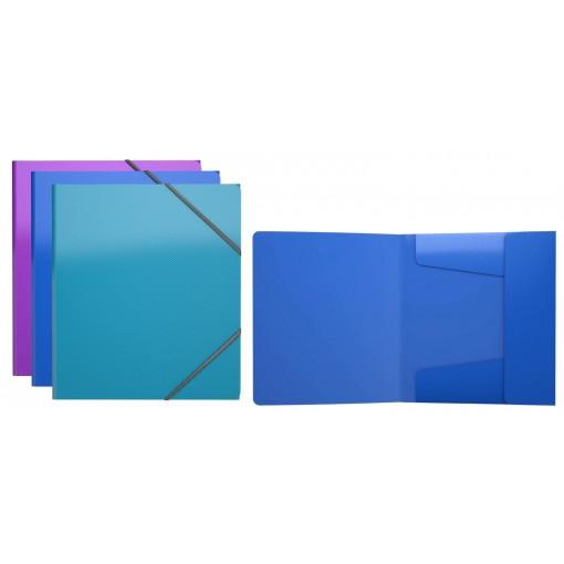 Nurgakummiga plastmapp A5+ GLANCE VIVID, 3 värvi (47196)