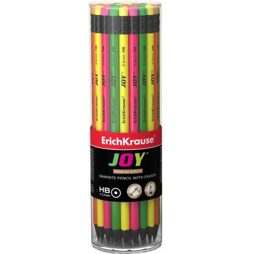 Harilik pliiats kummiga JOY HB, 42tk plasttopsis