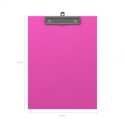 Kirjutusalus kaaneta NEON A4, roosa