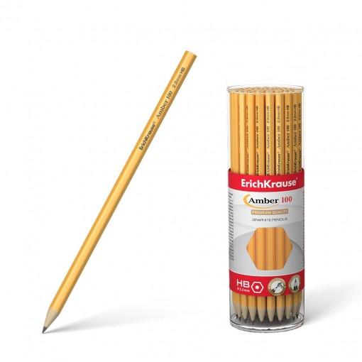 Harilik pliiats kummita AMBER 100 HB, 42tk plasttopsis