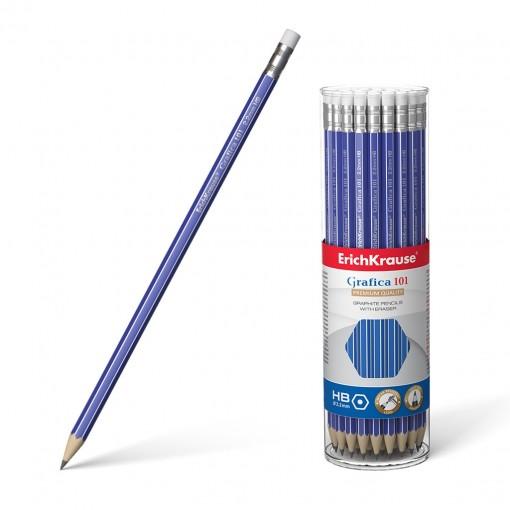Harilik pliiats kummiga GRAFICA 101 HB, 42tk plasttopsis