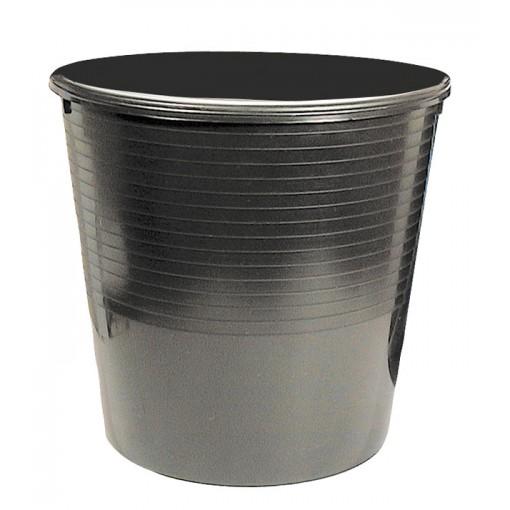 Prügikorv 12L, täisplast, must