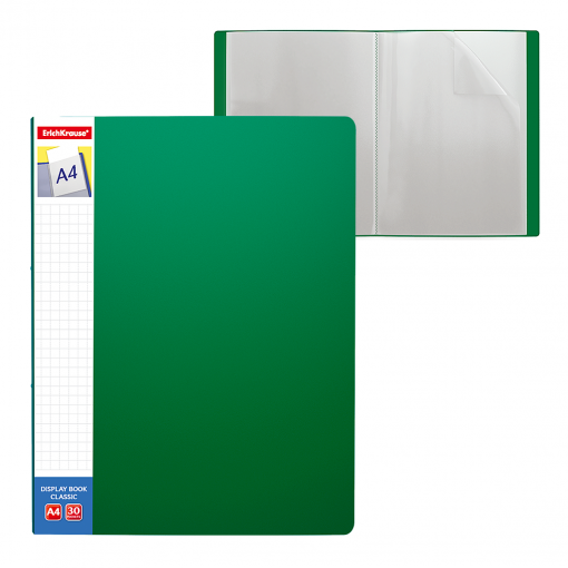Menüükaaned CLASSIC PLUS A4 30 taskut, roheline