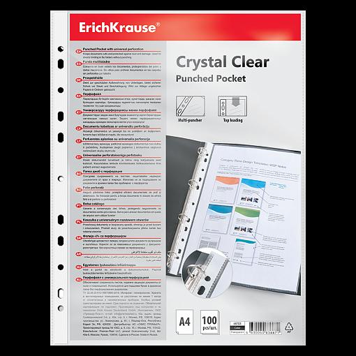 Köidetav kiletasku A4 60mkr Crystal Clear (100tk hind)