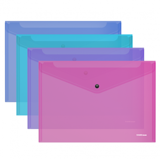 Kileümbrik trukiga A4 FIZZY VIVID, läbipaistev, 4 värvi assortii