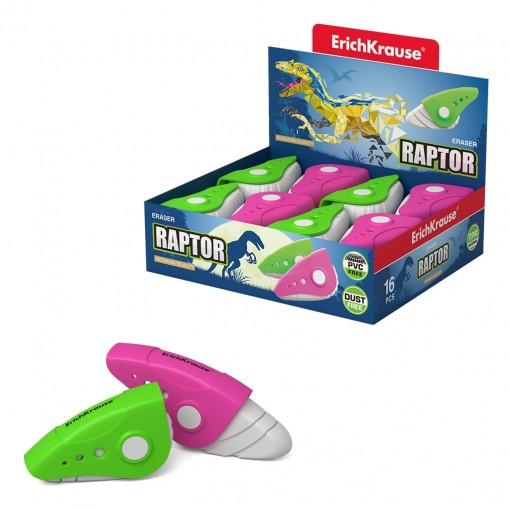 Kustutuskumm Raptor plastkorpuses (57x34x19mm)
