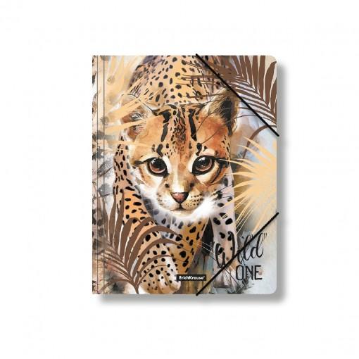 Nurgakummiga plastmapp A4 Wild Cat