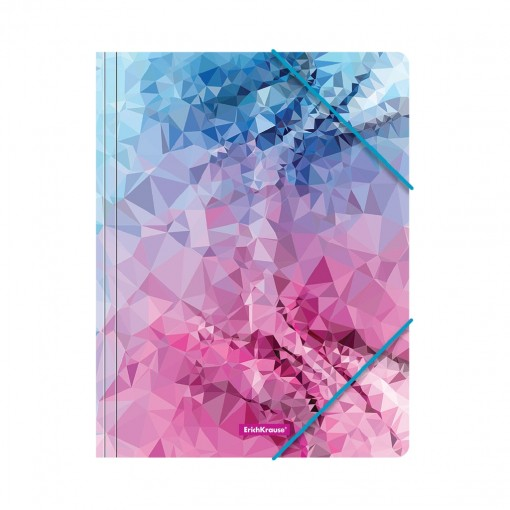 Nurgakummiga plastmapp A4 Pink Dynamique