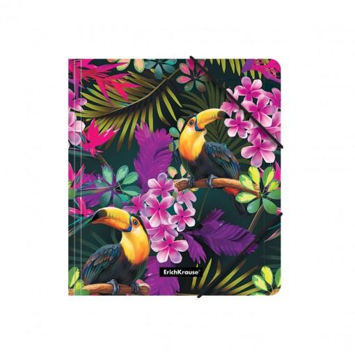 Nurgakummiga plastmapp A5+ Tropics