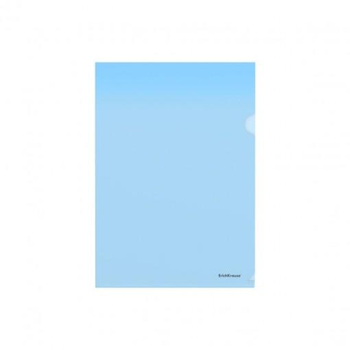 L-tasku A4 Glossy Clear, läbipaistev sinine