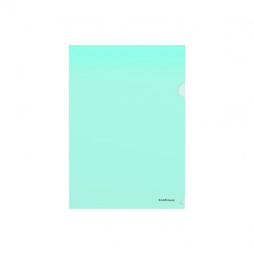 L-tasku A4 Glossy Clear, läbipaistev roheline