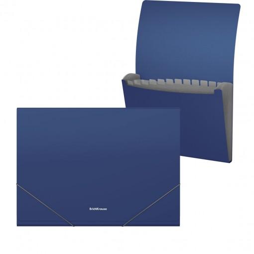 Lõõtsmapp A4 Matt Classic, 12 taskut, sinine