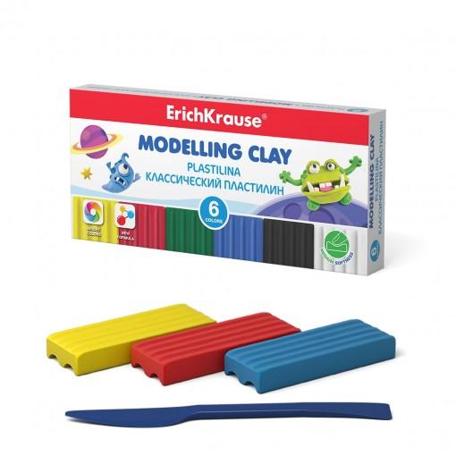 Plastiliin Monsters 6 värvi, 90g + nuga