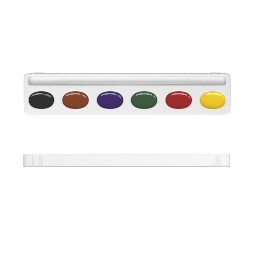 Akvarellvärvid meega BASIC, 6 värvi