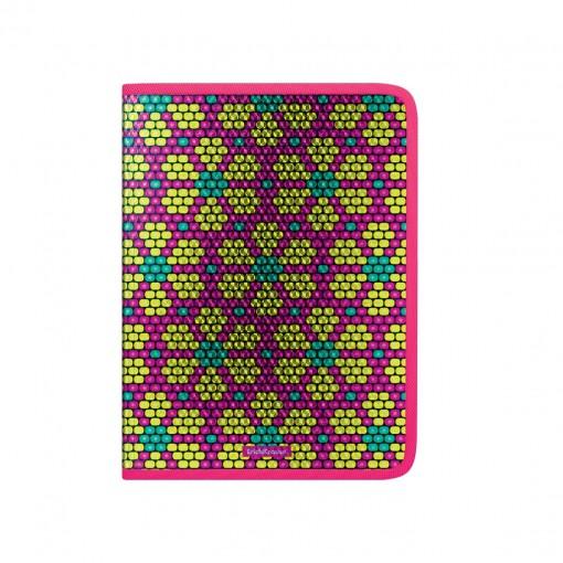 Plastmapp ringlukuga A4 Pink&Yellow Beads