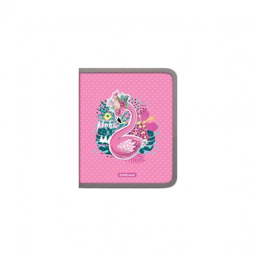 Plastmapp ringlukuga A5+ Rose Flamingo