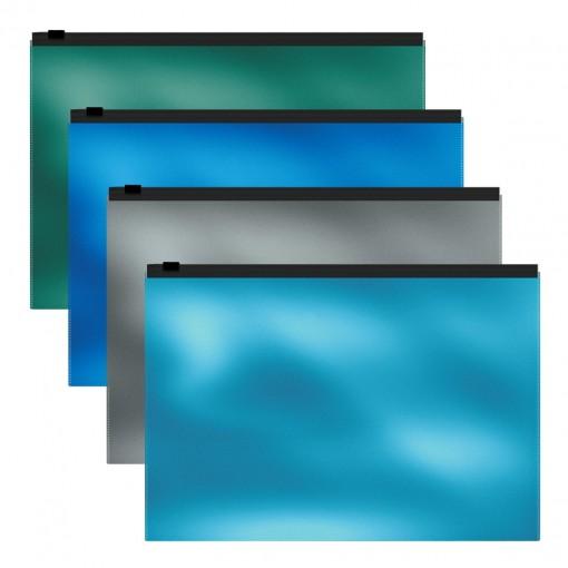 Kileümbrik tõmblukuga A4 Glossy Ice Metallic