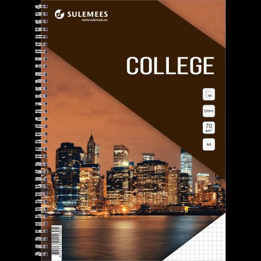 College A4, 60 lehte, 5x5 ruut – pruun