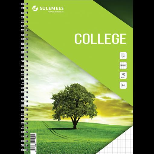 College A4, 60 lehte, 5x5 ruut – roheline