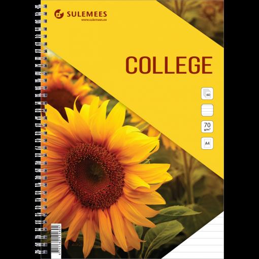College A4, 60 lehte, jooneline – kollane