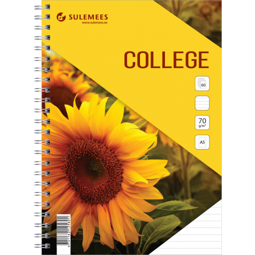 College A5, 60 lehte, jooneline – kollane